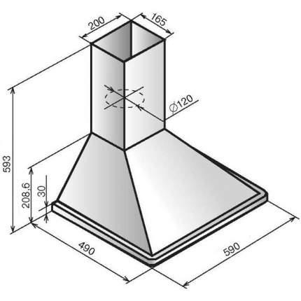 Вытяжка купольная Elikor Оптима 60П-400-К3Л White