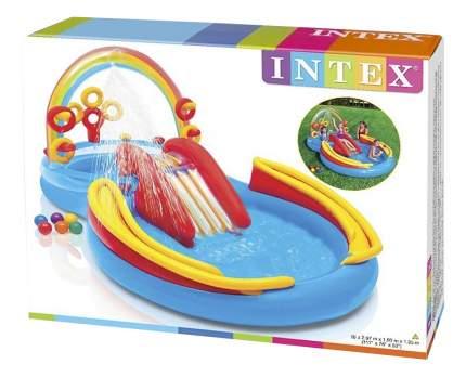 Intex игровой центр 297х193х135см радуга с горкой