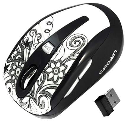 Мышь беспроводная Crown CMM-927W белый USB