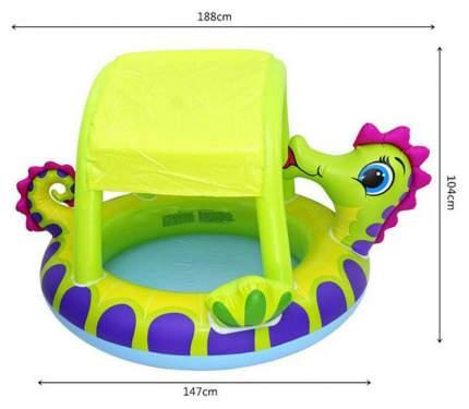 Бассейн надувной INTEX Морской конёк с навесом 188х147х104 см (57110)