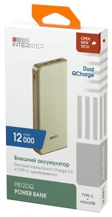 Внешний аккумулятор InterStep PB12DQ 12000 мА/ч Beige