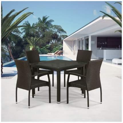 Комплект мебели Afina Garden T257A/Y379A-W53 Brown (4+1)
