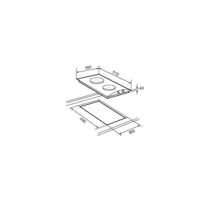 Встраиваемая варочная панель электрическая TEKA EM 30 2P Silver