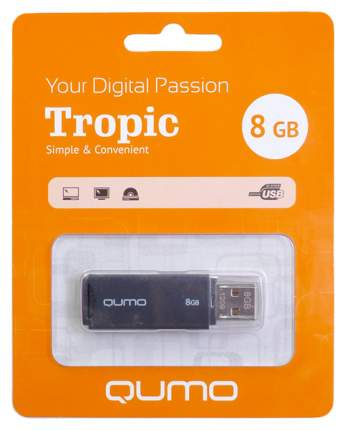 USB-флешка QUMO Tropic QM8GUD-TRP-Black