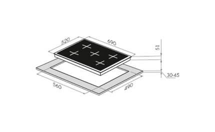 Встраиваемая варочная панель газовая MAUNFELD MGHE.75.78W White