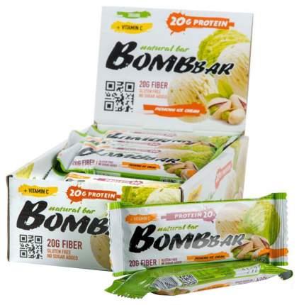 Протеиновый батончик Bombbar Protein Bar 60 г фисташковый пломбир