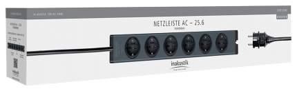 Сетевой фильтр In-Akustik AC-25-6, 6 розеток, 1,65 м, Black