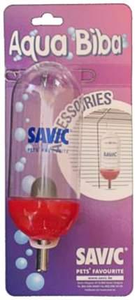 Поилка ниппельная с шариком для грызунов Savic, красный, 300 мл