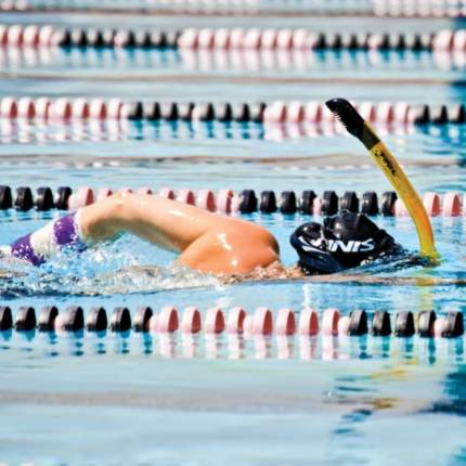 Трубка для плавания Finis Snorkel Dry Top черная