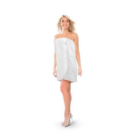 Парео вафельное, размер XL, цвет белый