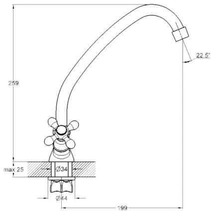 Смеситель для кухонной мойки G.lauf QFR4-A827