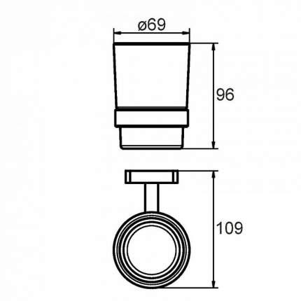 Стакан для зубных щеток Milardo Volga VOLSMG0M45