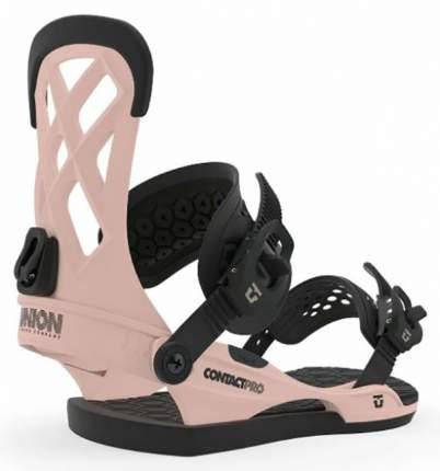 Крепления для сноуборда Union Contact Pro 2020, розовые, M