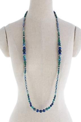Колье женское Selena 10123061 синее/зеленое