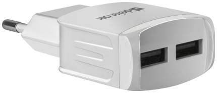 Сетевой адаптер питания Defender UPA-22 зарядка 2.1А 2 USB-порта, белая