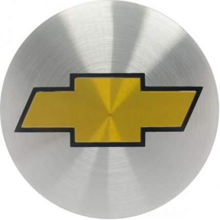 Наклейки на диски литые с логотипом автомобиля Шевроле 12050022 D-56 мм серебристые