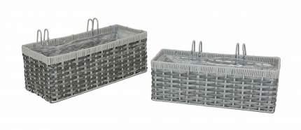 Ящики для растений 'Грей', 2 шт (04249)