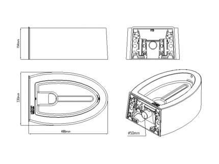 Автоматический туалет для кошек Kopfgescheit KG7010, белый, 48х33х19,4 см