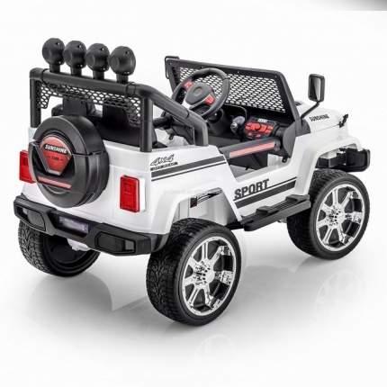 Электромобиль Little Sun двухместный полноприводный White Jeep 12V 2.4G - S2388-W