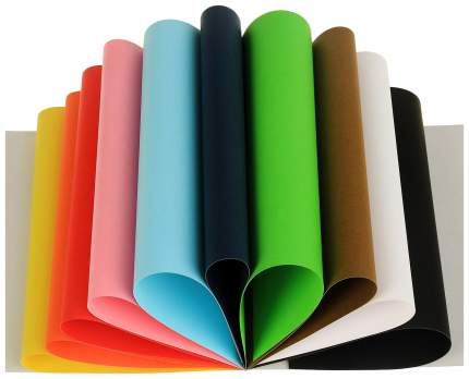 Картон цветной набор 312*240 мм Sadipal 10 листов*10 цветов склейка 5980 Sadipal