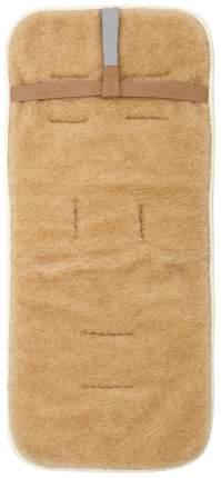 Матрасик в коляску Mammie двухсторонний шерсть/экозамша жемчужный