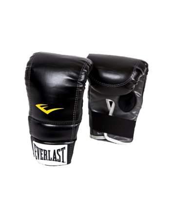 Перчатки снарядные Everlast 4315LXLU, к/з, черные/белые/желтые