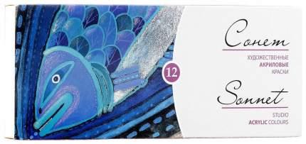 Акриловые краски Невская Палитра Сонет 12 цветов