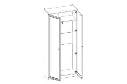 Платяной шкаф Hoff Paola 80323818 89,8х210,7х40, ясень анкор светлый