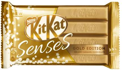 Шоколад  KitKat Senses gold edition deluxe caramel с хрустящей вафлей 45 г
