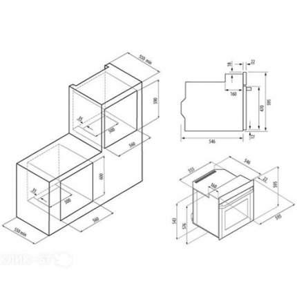 Встраиваемый электрический духовой шкаф Fornelli FET 60 FORTE BL
