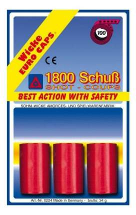 Пистоны Sohni-Wicke 100-зарядные 1800 шт. блистер упаковка-карта