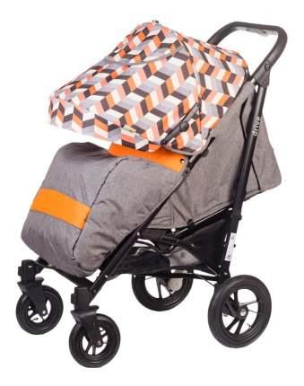 Коляска-трость прогулочная babyhit drive-grey-orange