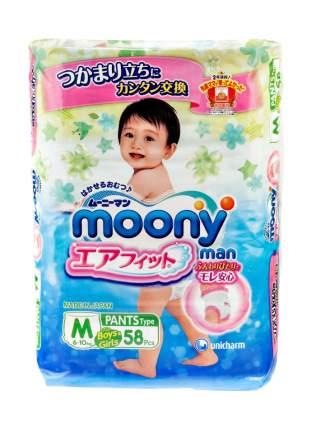 Подгузники-трусики Moony Man универсальные M (6-10 кг), 58 шт.