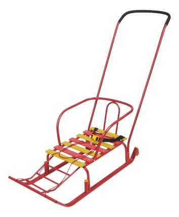 Санки Ника Тимка 5 Комфорт с большим колесом красный