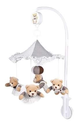 Музыкальная мягкая карусель Canpol Babies Мишки под зонтиком