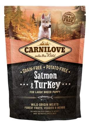 Сухой корм для щенков Carnilove Large Breed Puppy, для крупных пород, индейка,лосось,1,5кг