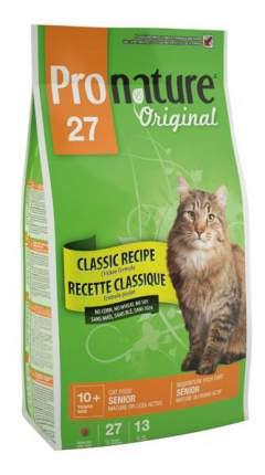 Сухой корм для кошек Pronature Original Senior, для пожилых, цыпленок, 2,72кг