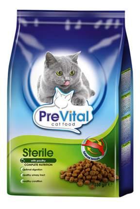 Сухой корм для кошек PreVital Sterile, для стерилизованных, домашняя птица, 0,35кг