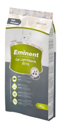 Сухой корм для кошек Eminent Light/Sterile, для стерилизованных, облегченный, курица, 10кг