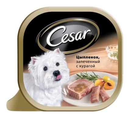 Консервы для собак Cesar, запеченый цыпленок и курага, 24шт, 100г