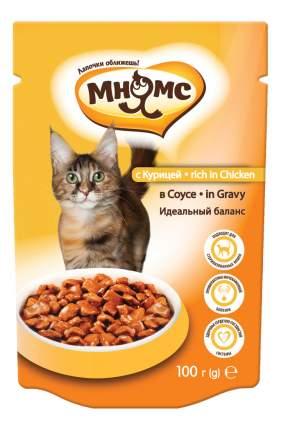 Влажный корм для кошек Мнямс Идеальный баланс, курица в соусе, 24шт, 100г