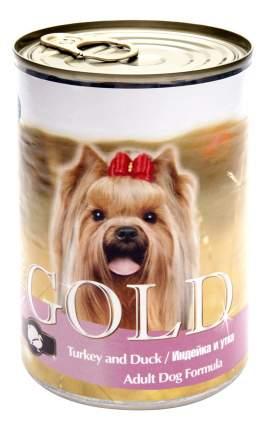 Консервы для собак NERO GOLD Adult Dog Formula, индейка, утка, 12шт, 1250г