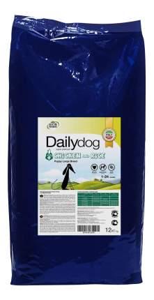 Сухой корм для щенков Dailydog Puppy Large Breed, для крупных пород, курица и рис, 12кг