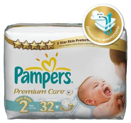 Подгузники для новорожденных Pampers Premium Care 2 (3-6 кг), 32 шт.