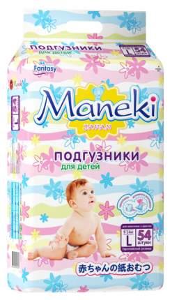 Подгузники Maneki Fantasy L (9-14 кг), 54 шт.