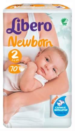 Подгузники для новорожденных Libero Newborn Mini 2 (3-6 кг), 70 шт.