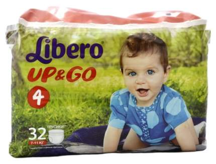 Подгузники Libero Up&Go Maxi 4 (7-11 кг), 32 шт.