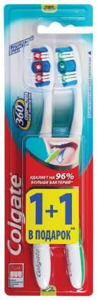 Зубная щетка Colgate 360 Суперчистота всей полости рта средние 1 + 1 шт