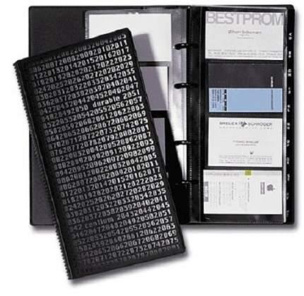 Визитница DURABLE Visifix Centium на 200 визиток, черная (2403-01)