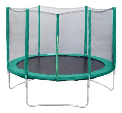 Батут Kms-sport Trampoline с сеткой 240 см, черный/зеленый